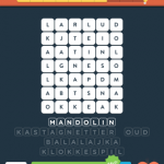 Wordbrain instrumenter niveau 1