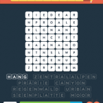Wordbrain 2 landschaft level 5