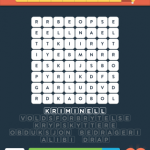 Wordbrain 2 kriminalitet svar 4